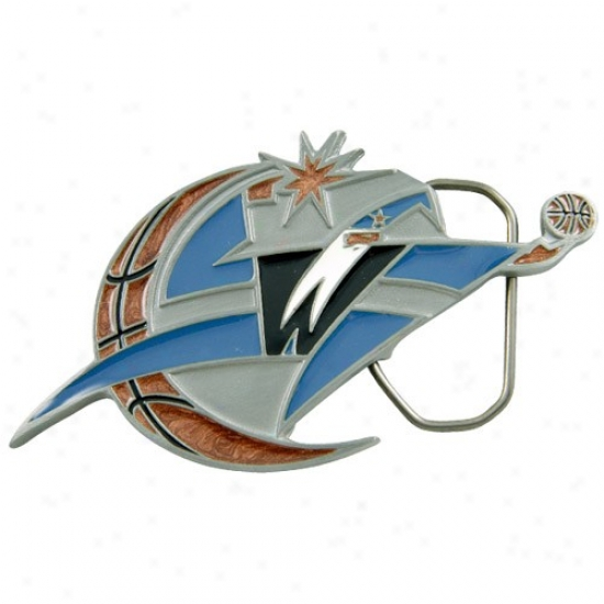 Washington Wizards Pewter Team Logo Belt Buckle