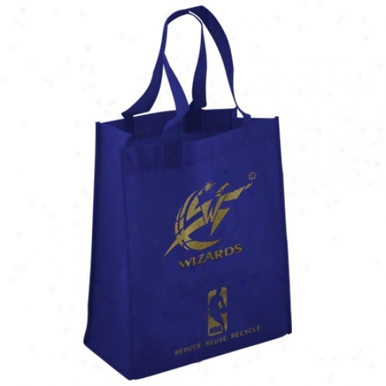 Washington Wizards Royal Blue Reusable Tote Bag