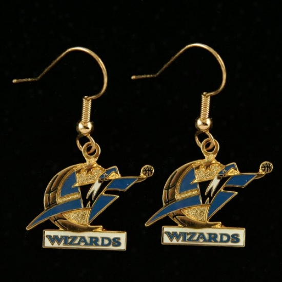 Washington Wizards Team Logo Dangle Earrings