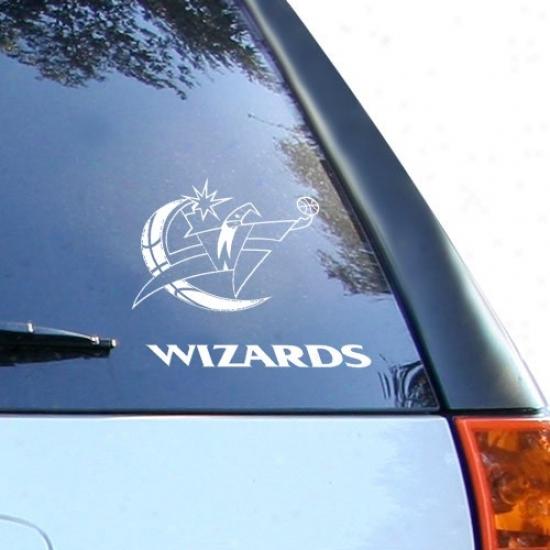 Washington Wizards White 8'' X 8'' Logo Decal