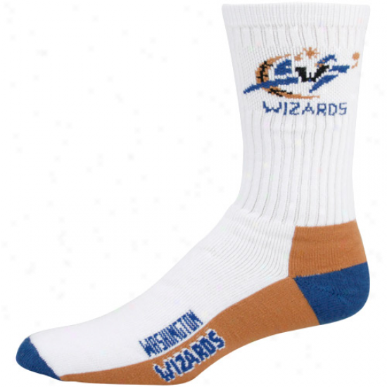 Washington Wizards White Tri-color Team Logo Tall Socks