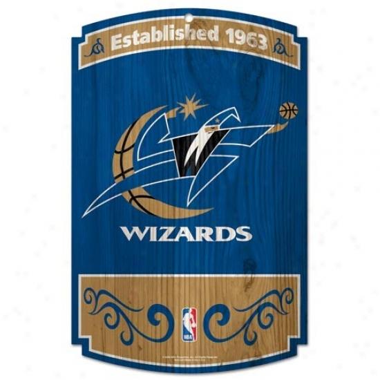 Washington Wizards Wood Sign