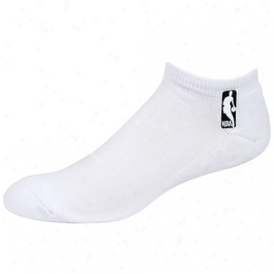 Pale Men's Nba Logo 10-13 Ankle Socks