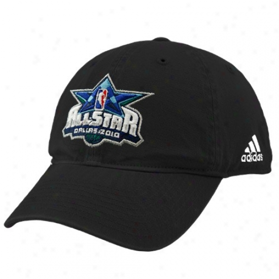 Wizrads Hats : Adidas 2010 Nba All-star Game Black Official Logo Adjustable Slouch Hats