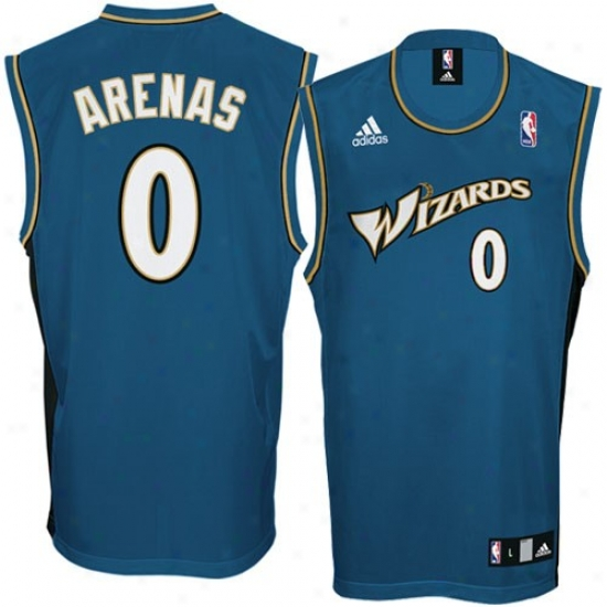 Wizards Jersey : Adidas Wizards #0 Gilbert Arenas Navy Blue Replica Basketball Jersey