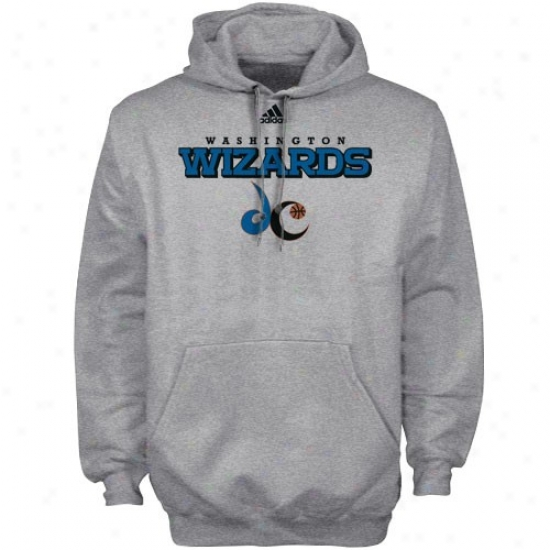Wizards Sweatshirt : Adidas Wizards Ash True Court Sweatshirt