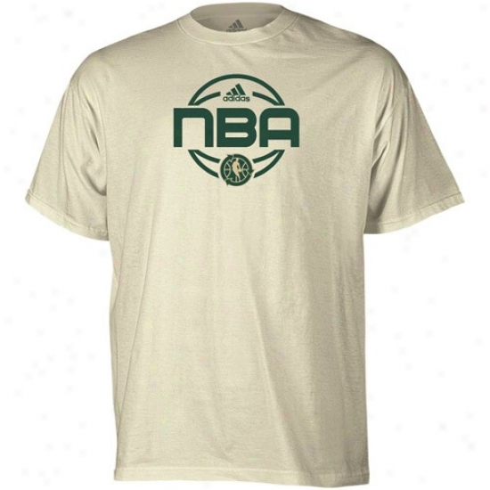 Wizards T Shirt : Adidas Nba Green Week Natural Team Issue Organic T Shirt