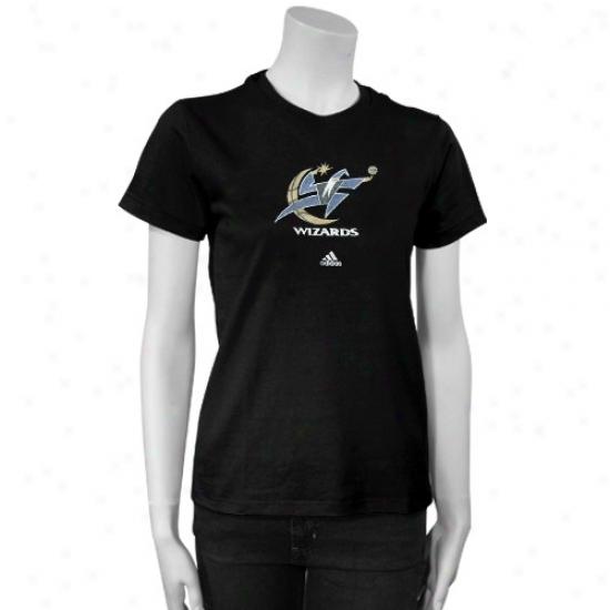 Wizards T Shirt : Adidas iWzards Ladies Black Sugar T Shirt