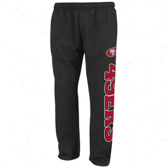 49er Hoodies : Reebok 49er Black Post Game Hoodies Sweatpants