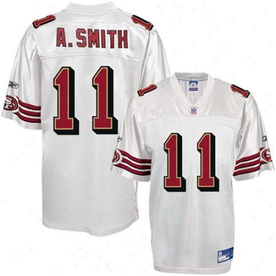 49er Jersey : Reebok Nfl Equipment 49er #11 Alex Smith Youth White Replica Foofball Jersey
