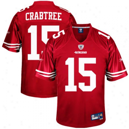 49er Jerseys : Reebok Michael Crabtree 49er Youth Premier Tackle Twill Jerseys - Cardinal