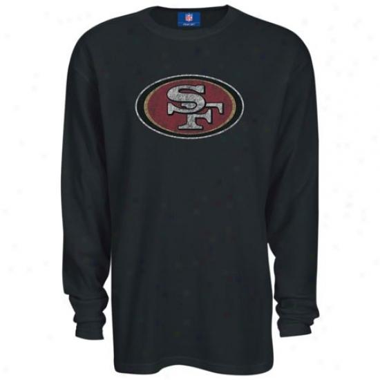 49er T Shirt : Reebok 49er Black Thermal Long Slerve Top