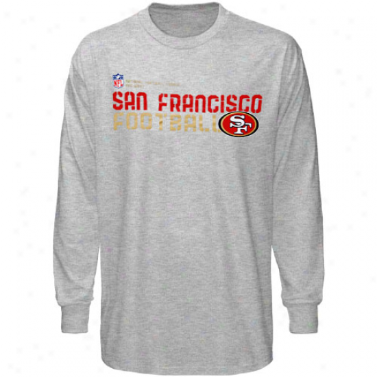 49er Tshirt : Reebok 49er Youtb Ash Sideline Statement Long Sleeve Tshirt