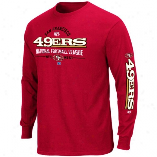 49ers Clothes: 49ers Cardinal Primary Receiver Long Sleeve T-shirt