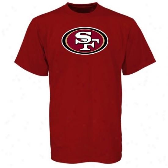 49ers Apparel: Reebik 49ers Cardinal Logo Premier T-shirt