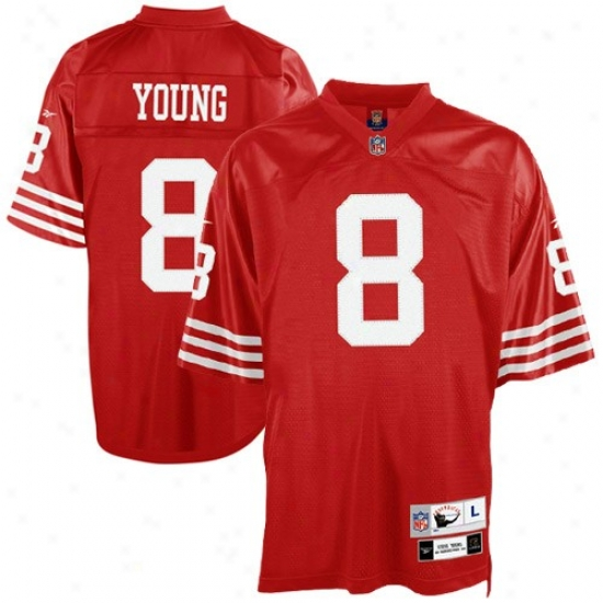 49ers Jersey : Reebok 49ers #8 Steve Young Rd Equipment Twill Throwback Football Jersey