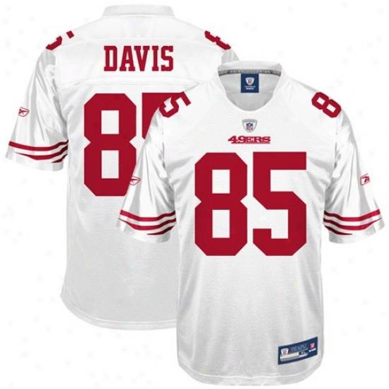 49ers Jersey : Reebok Nfl Equipment 49ers #85 Vernon Davis White Reeplica Football Jersey