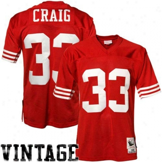 49ers Jerseys : Mitchell & Ness Roger Craig 49ers Authentic Throwback Jerseys - Scarlet