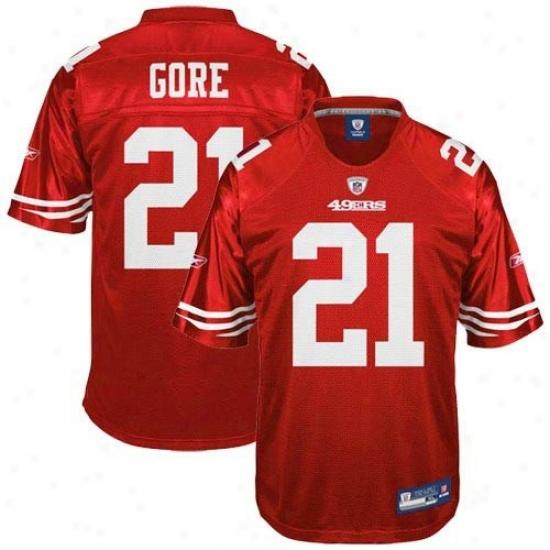 49ers Jerseys : Reebok Nfl Equipment 49ers #21 Frank Gore Juvenility Cardinal Replica Football Jerseys