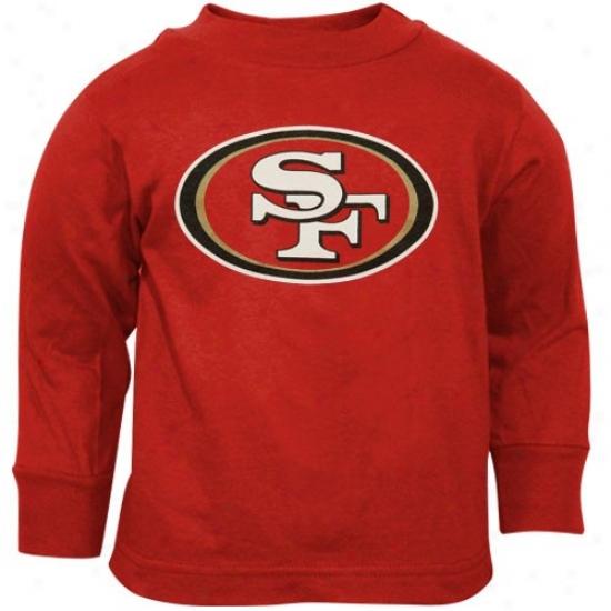 49ers T Shirt : Reebok 49ers Toddler Maroon Primary Logo Long Sleeve T Shirt