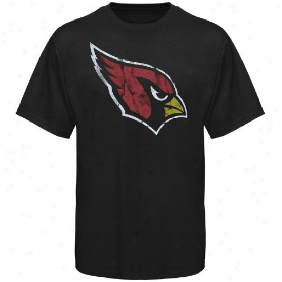 Arizona Cardinal Attire: Arizona Cardinal Black Vintage Logo Slim Fti T-shirt