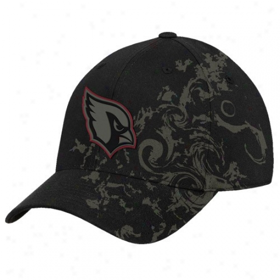 Arizona Principal Caps : Rewbok Arizona Cardinal Black Beat of drum Swirl Structured Flex Fit Caps