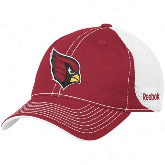 Arizona Cardinal Hat : Reebok Arizona Cardinal Cardinal 2010 Coaches Mesh Slouch Adnustsble Hat