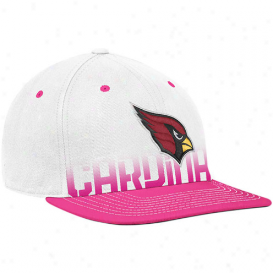 Ariziba Cardinal Hats : Reebok Arizona Cardinal White-pink Breast Cancer Awareness Flat Brim Flex Hats