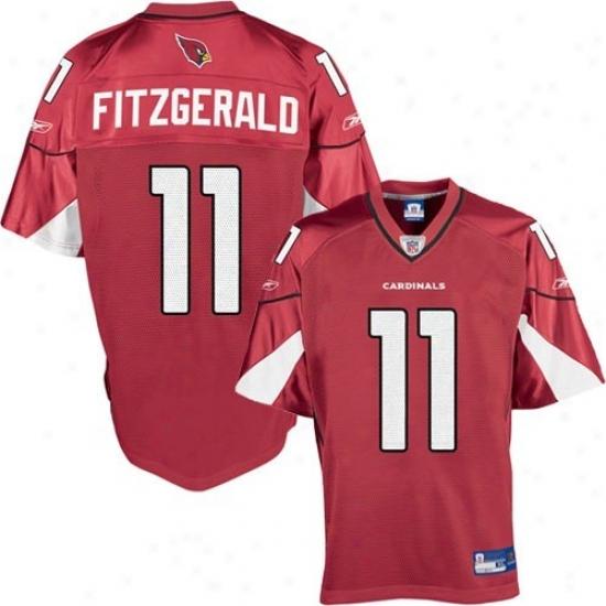 Arizona Cardinal Jerseys : Reebok Arizonw Cardinal #l1 Larry Fitzgerald Red Youth Replica Fo0tball Jerseys