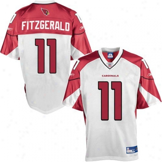 Arizona Cardinal Jerseys : Reebok Nfl Equipment Arizona Cardinal #11 Larry Fitzgerald Youth White Replica Football Jerseys