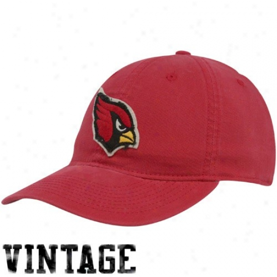 Arizona Cardinal Merchandise: Reebok Arizona Cardinal Cardinal Red Distressed Logo Slouch Flex Fit Hat
