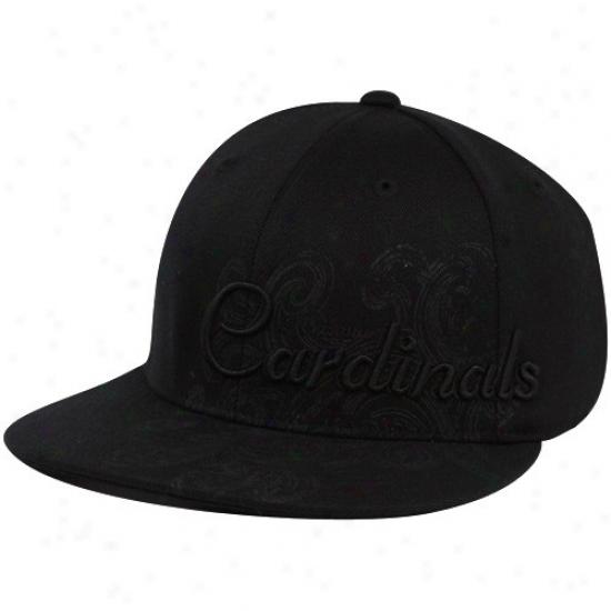 Arizona Cardinal Merchandise: Reebok Arizona Cardinal Black Fashion Flex Fit Hat