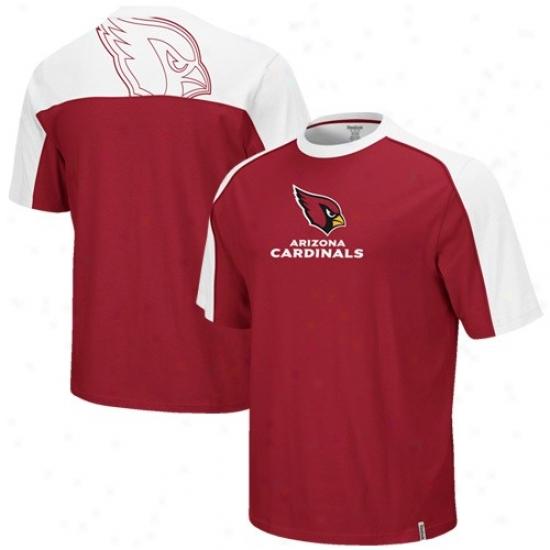 Ariizona Cardinal T Shirt : Reebok Arizona Cardinal Cardinal-white Draft Pick T Shirt