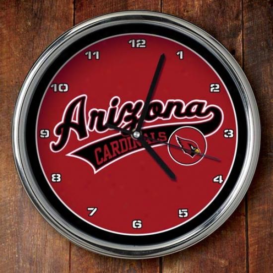 Arizona Cardinals 12'' Chrome Clock