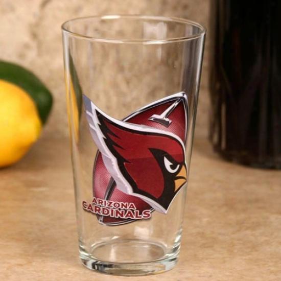 Arizona Cardinals 17 zO. Enhanced Hi-def Mixing Glass