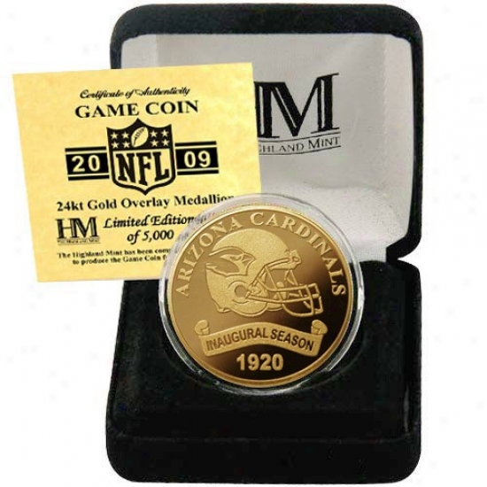Arizona Cardinals 2009 Inaugural Season 24kt Gold Commemorative Coin