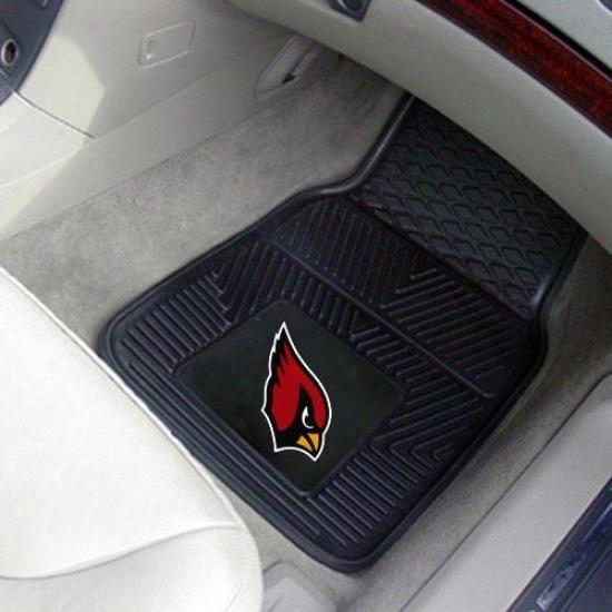 Arizona Cardinals Blac 2-piece Vinyl Car Mat Set