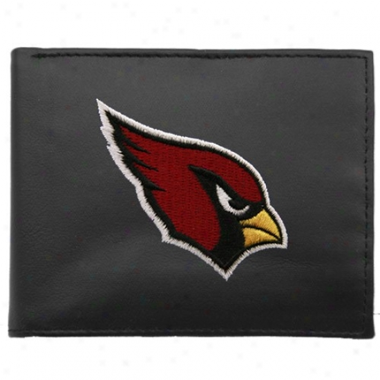 Arizona Cardinals Black Embroidered Billfold Wallet