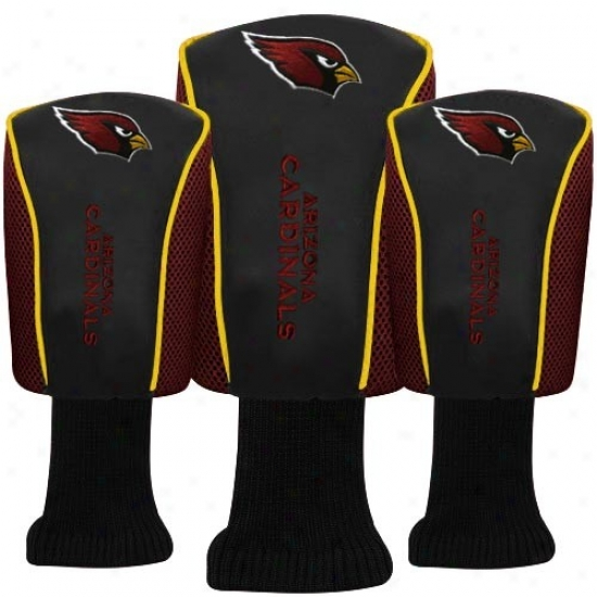 Arizona Cardinals Black Three-pack Golf Club Headcovers