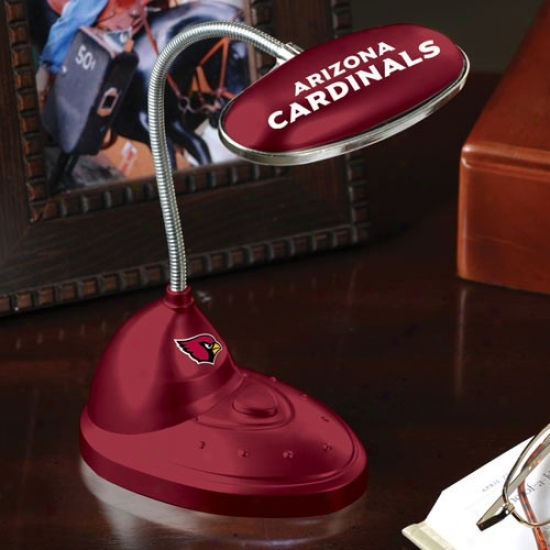 Arizona Cardinals Cardinal Red Led Desk Lamp