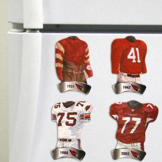 Arizona Cardinals Jersey Movement 4-pack Magnets