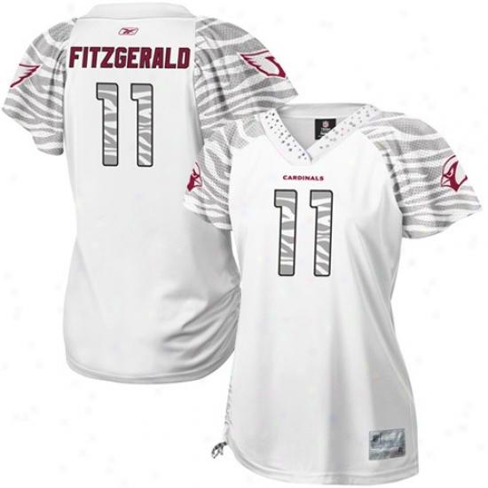 Arizona Cardinals Jerseys : Reebok Larry Fitzgerald Arizona Cardinals Women's Field Flirt Replica Jerseys - White