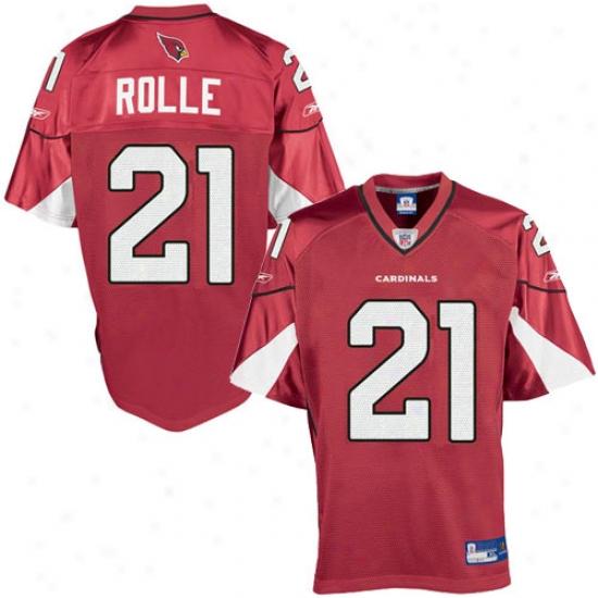 Arizona Cardinals Jerseys : Reebok Nfl Equipment Arizona Cardinals #21 Antrel Rolle Red Autograph copy Football Jerseys