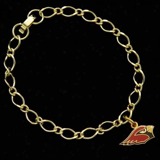 Arizona Cardinals Ladies Gold-tohe Charm Bracelet