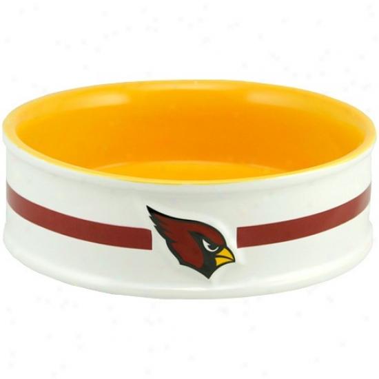 Arizona Cardinals Large Ceramic Pet Bowl