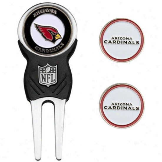 Arizona Cardinals Nfl Divot Tool & Ball Marker Set