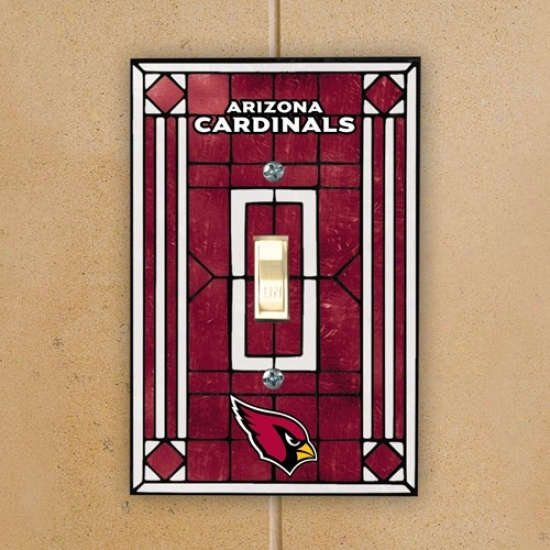 Arizona Cardinaks Red Art-glass Switch Plate Cover