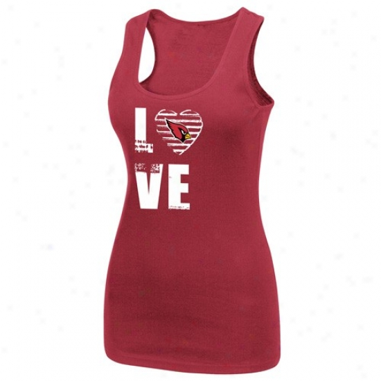 Arrizona Cardinals Shirt : Arizona Cardinals Ladies Cardinal Play Time Iii Tank Top