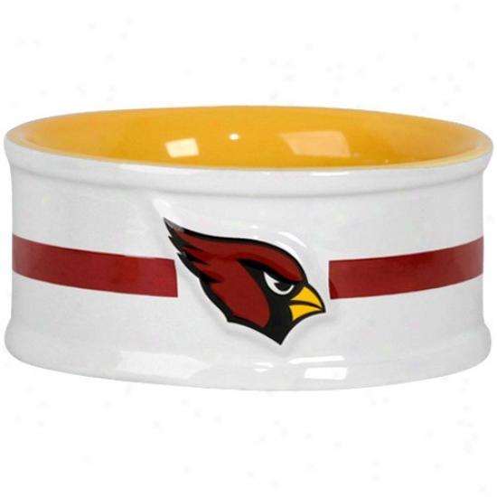 Arizona Cardinals Small Ceramic Pet Bowl