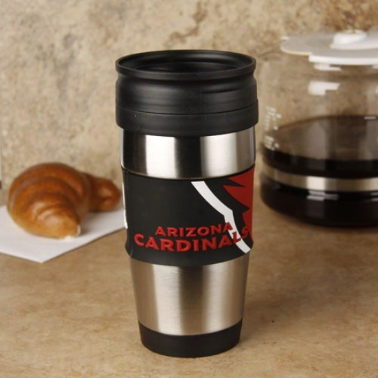 Arizona Cardinals Steel & Pvc Travel Tumbler